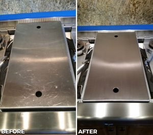 Refinished Stainless Stove
